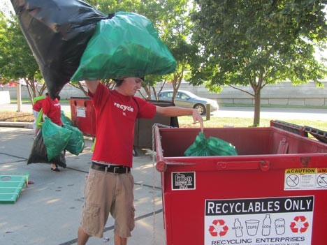 Go Green Recycling Activities on Game Day
